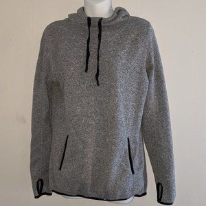 Danskin Now Gray Hoodie with thumb holes Size L
